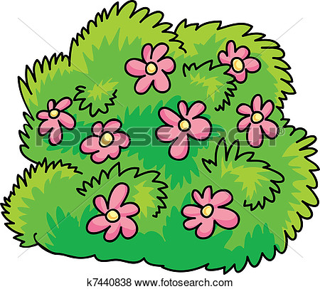 Rose bush clip art.