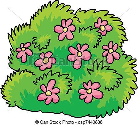 Flower bushes clipart.