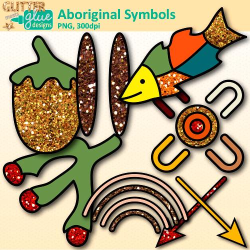 Aboriginal Symbols Clip Art.