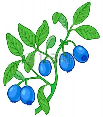 Fruit Bush Clip Art.