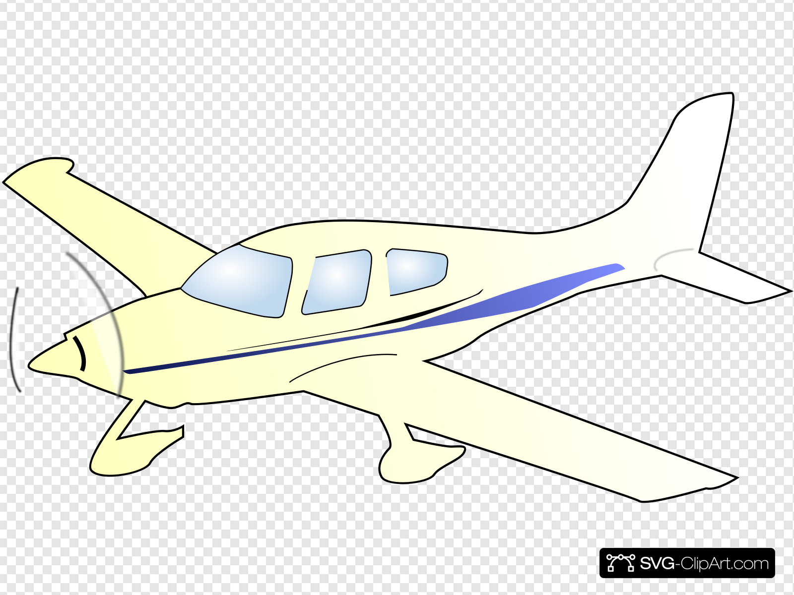 Cessna Plane Clip art, Icon and SVG.