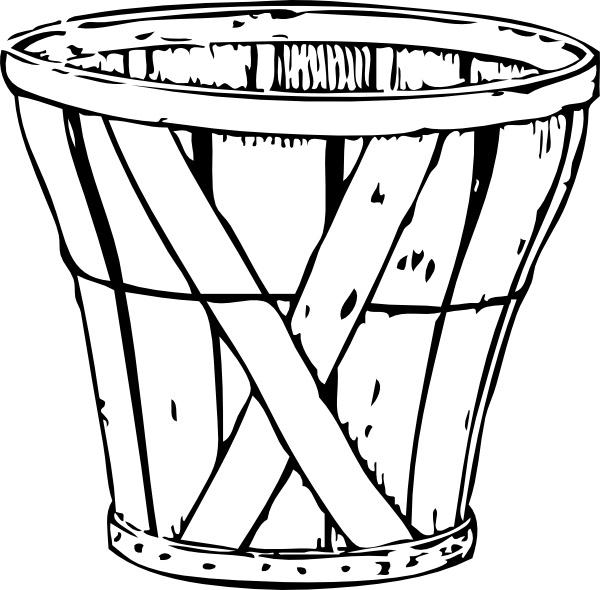 Bushel Basket clip art Free vector in Open office drawing svg.