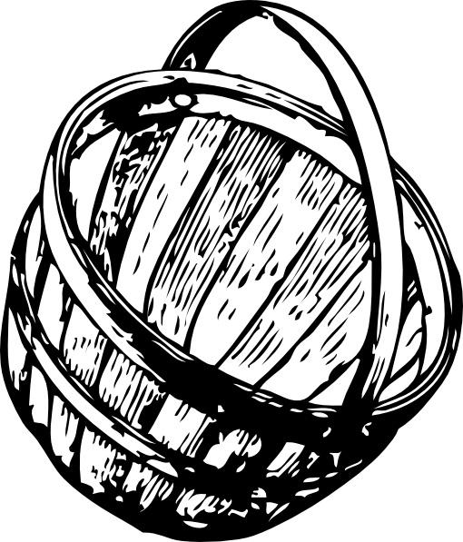 Half Bushel Picking Basket clip art Free vector in Open office.