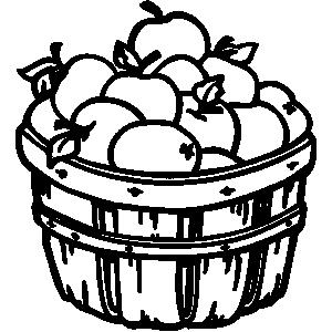 Bushel Basket Clipart.
