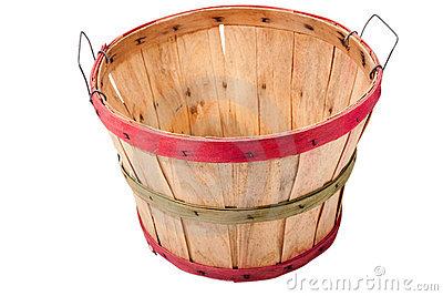 Apple Bushel Basket Clipart.
