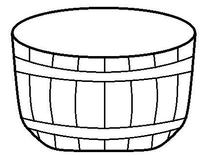 Empty Bushel Basket Clipart.