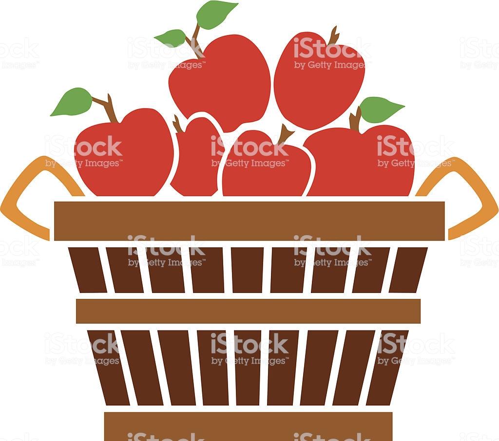 Bushel Of Apples Stock Vector Art & More Images of Apple.