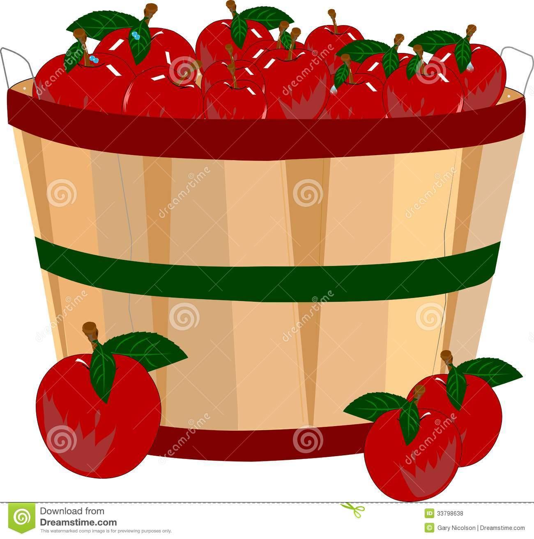 Apples Bushel Stock Illustrations.