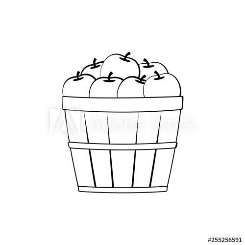 Bushel of apples icon. Clipart image isolated on white background.
