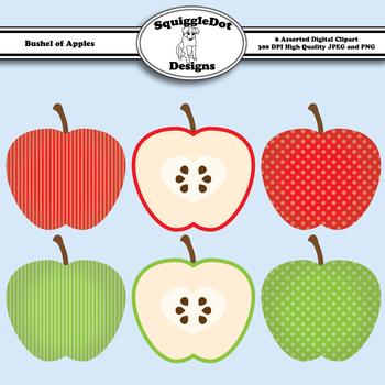 Bushel of Apples Clip Art.