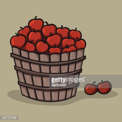 Bushel of Apples premium clipart.
