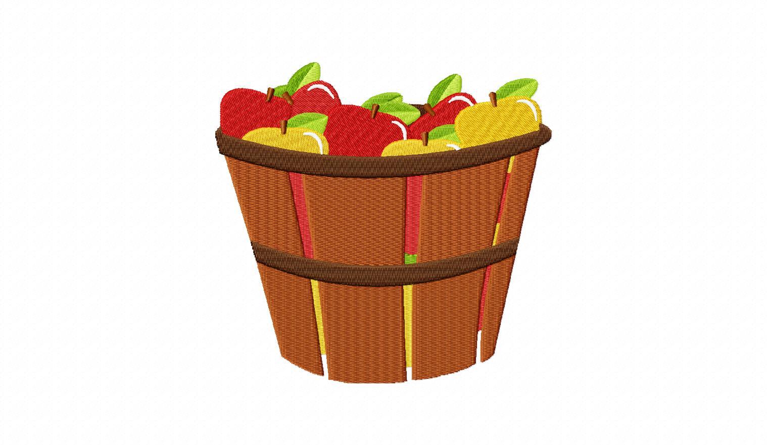 Bushel Of Apples Clipart.