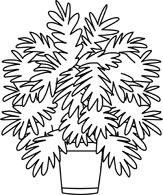 Potted Plants Clipart Black And White.