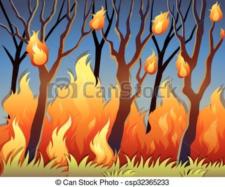Bushfire Vector Clipart EPS Images. 84 Bushfire clip art vector.