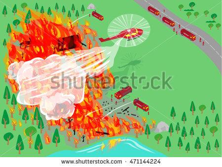 Bushfire Stock Photos, Royalty.