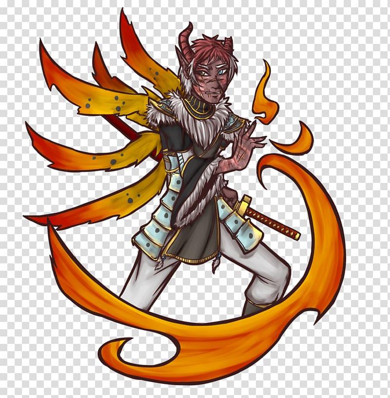 Dragon Mythology Cartoon , bushido transparent background.