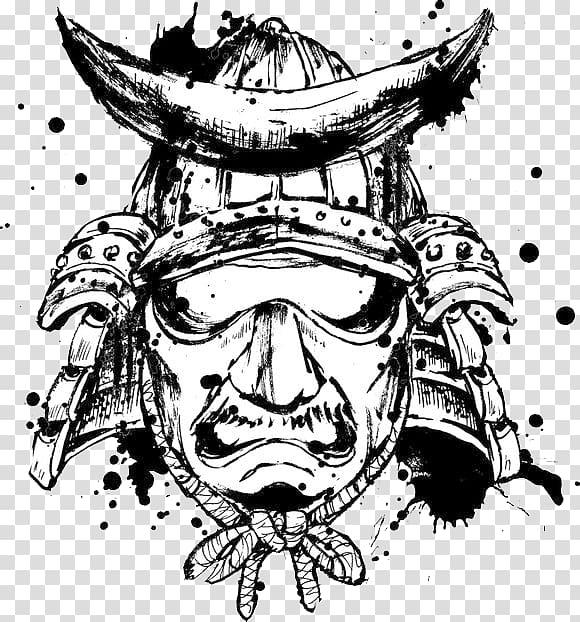 Samurai Bushido , warrior transparent background PNG clipart.