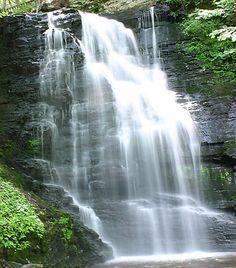 Bushkill Falls scene, Bushkill, PA My old home town (or should I.