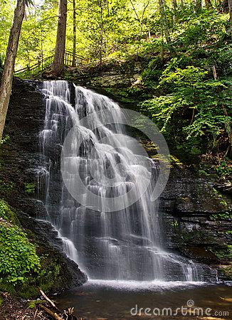 Bushkill Falls, Poconos Stock Photo.