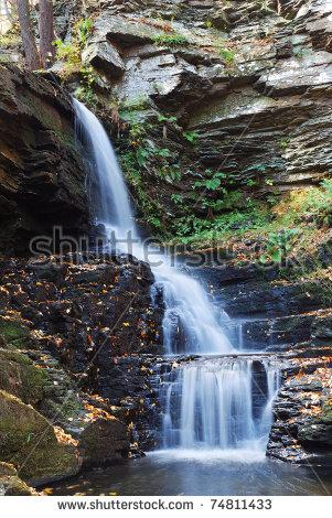 Bushkill Falls Stock Photos, Royalty.