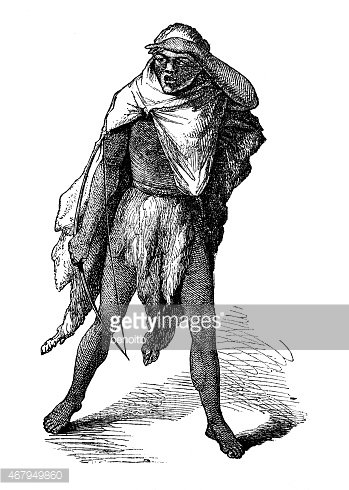Bushman Clipart Image.