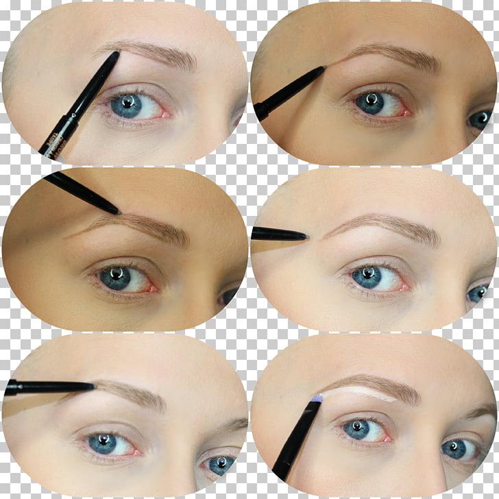 Eyelash extensions Eye liner Lip liner, bushy eyebrows PNG.