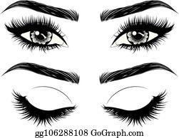 Thick Eyebrows Clip Art.