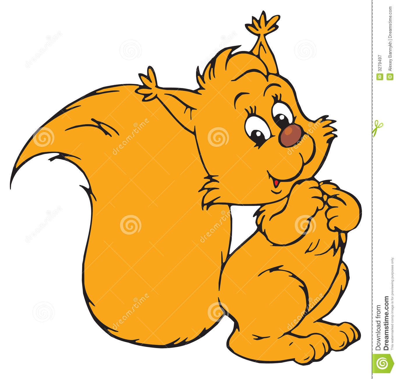 Cute Cartoon Squirrel Royalty Free Stock Photography.