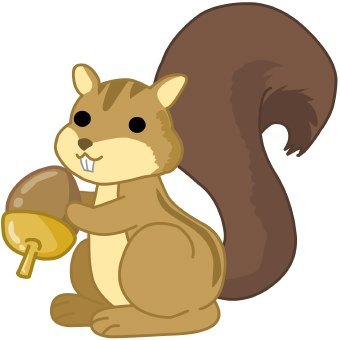 clipart of squirrels #4