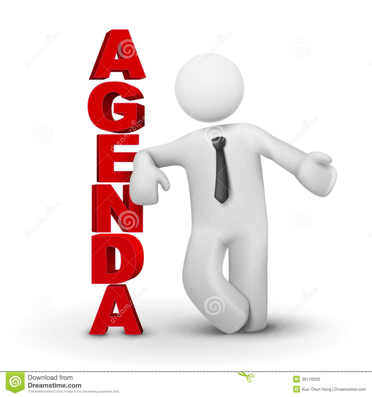 Business Agenda Clipart.