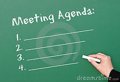 Agenda Royalty Free Stock Images.