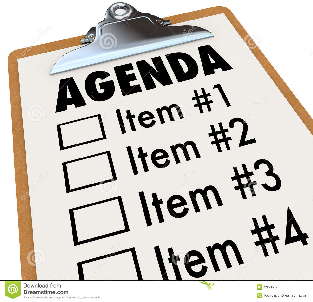Meeting Agenda Clipart.