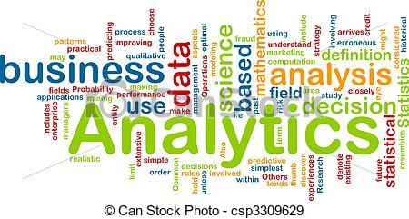 Stock Illustration of Analytics background concept.