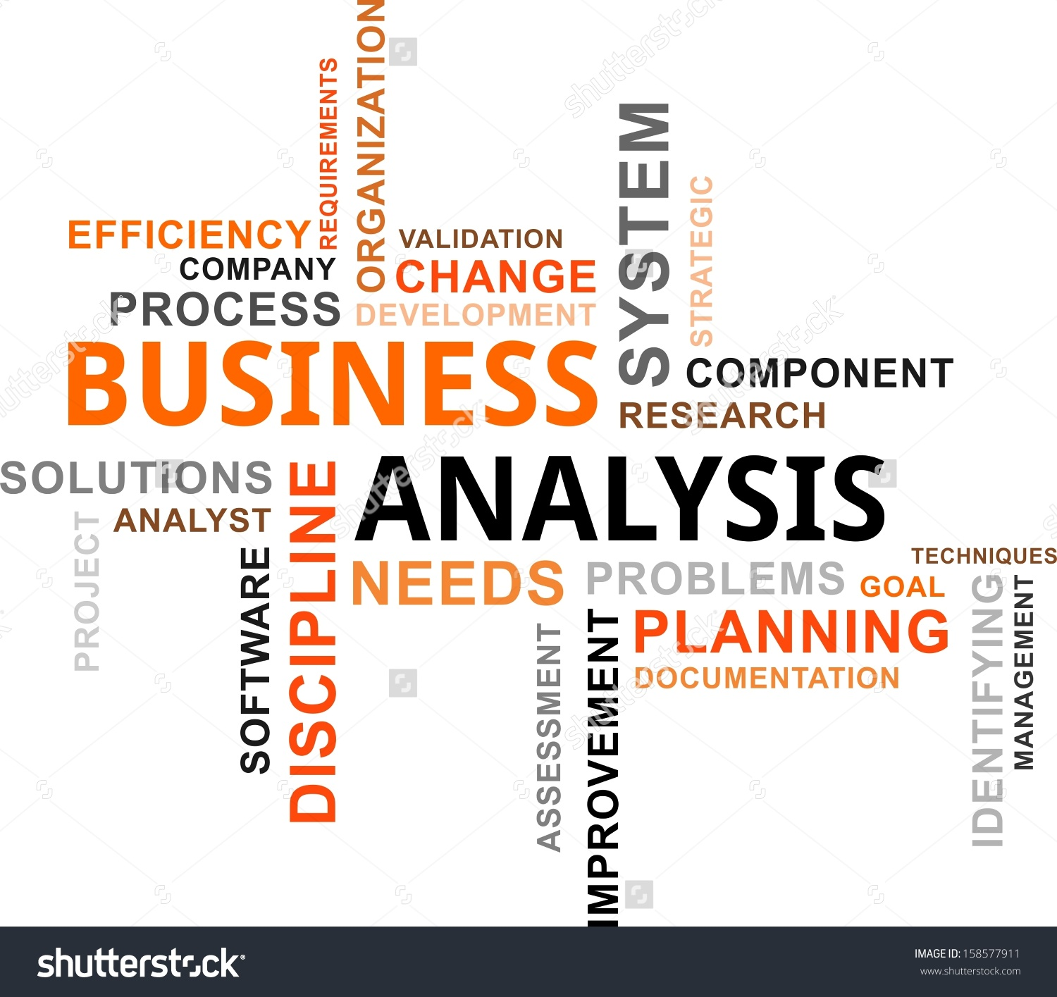 Word Cloud Business Analysis Related Items Stock Vector 158577911.