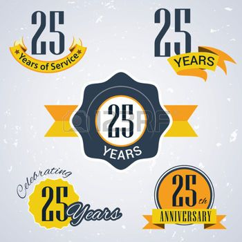 company anniversary: 25 years of service, 25 years, Celebrating 25.