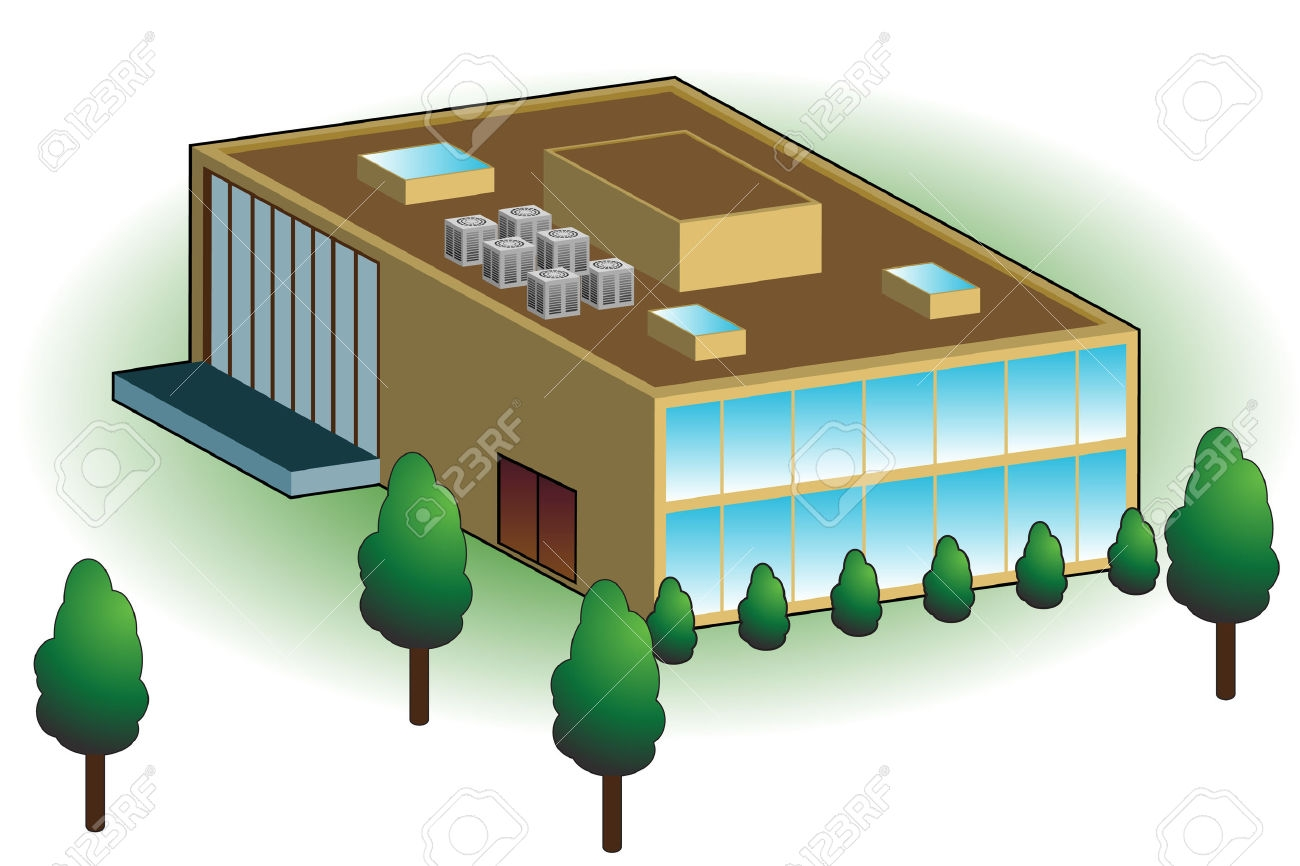 Warehouse building clipart.