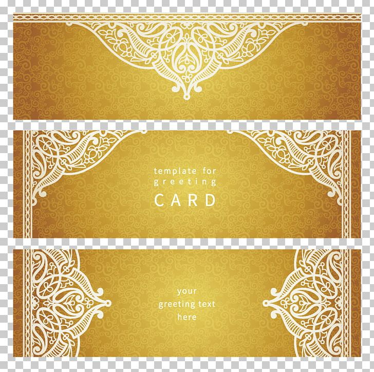Wedding Invitation Business Card Visiting Card Pattern PNG.