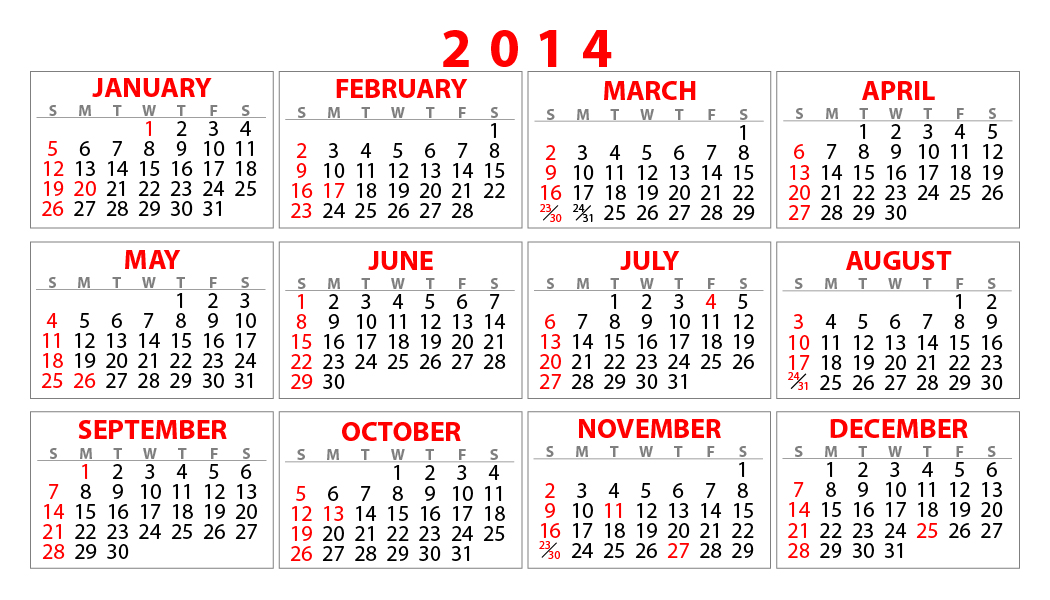 Calendars Templates.