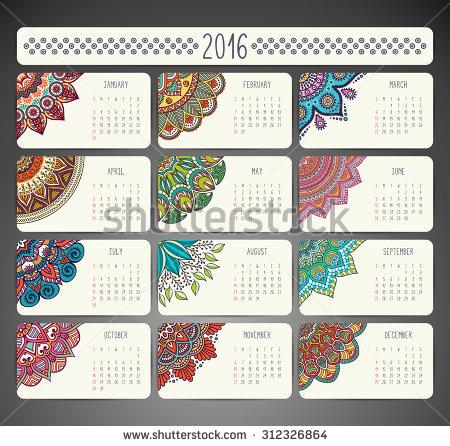 Islamic Calendar Stock Images, Royalty.