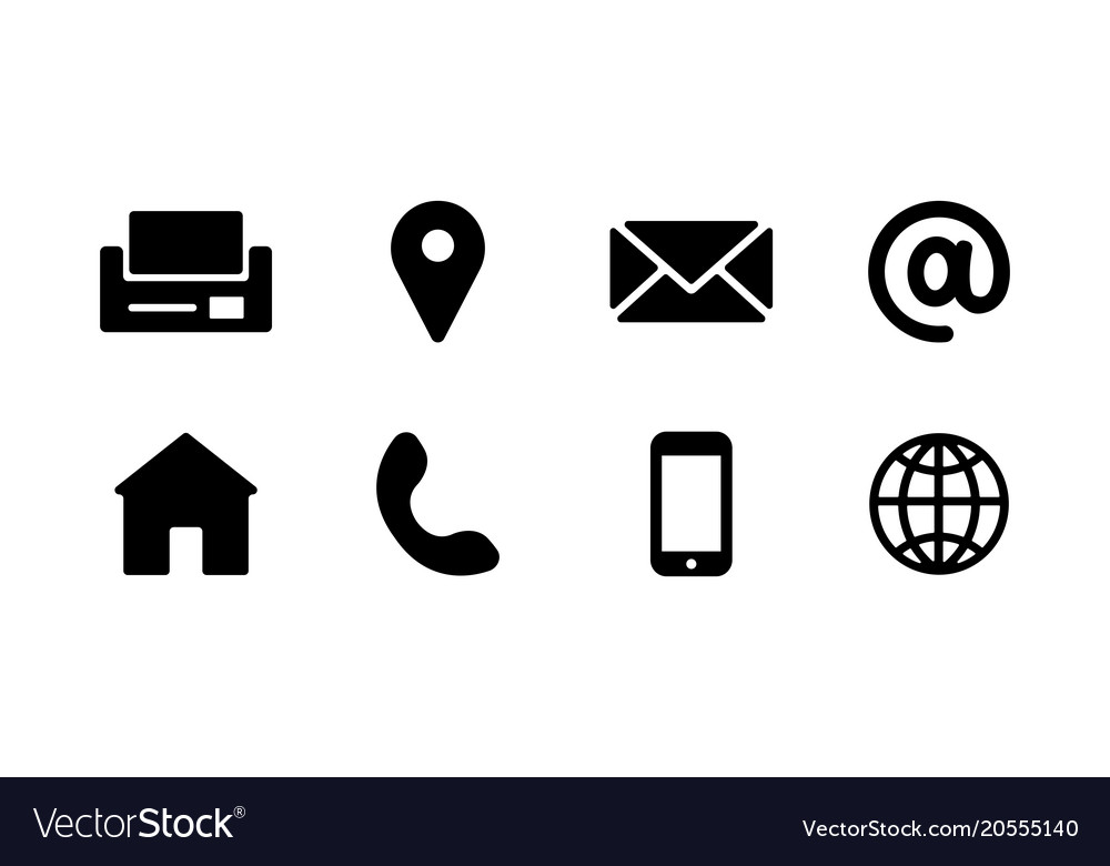 Business Card Icons Vector Free Download at GetDrawings.com.