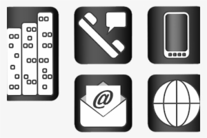 Business Card Icons PNG Images.
