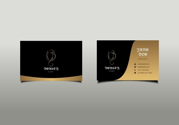 Beauty Clinic Business Card Mockup Free Vector.