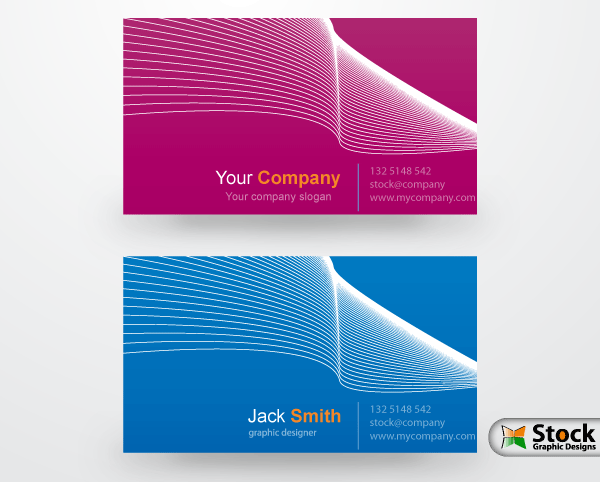 Corporate Business Card Vector.