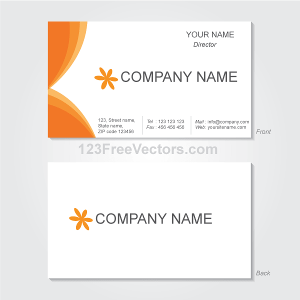 Free Vector Graphics Business Card Template PSD files, vectors.