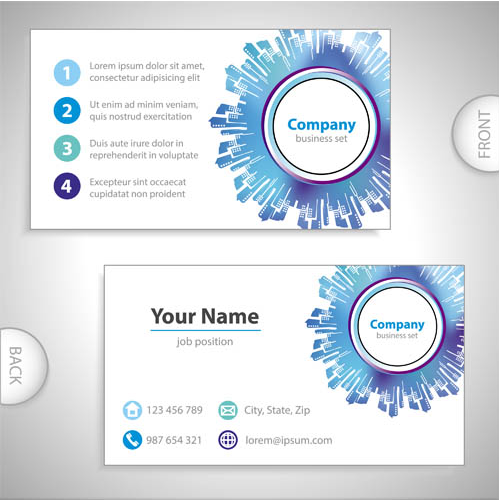 Real Estate Business Cards vector free download.