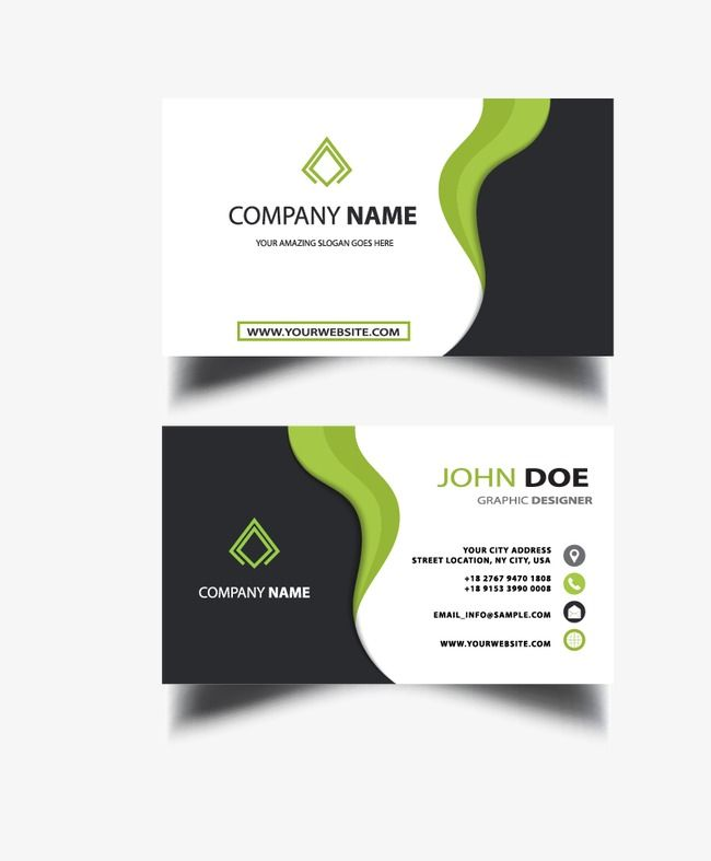 Business Cards, Simple Business Cards, Business Card PNG and Vector.