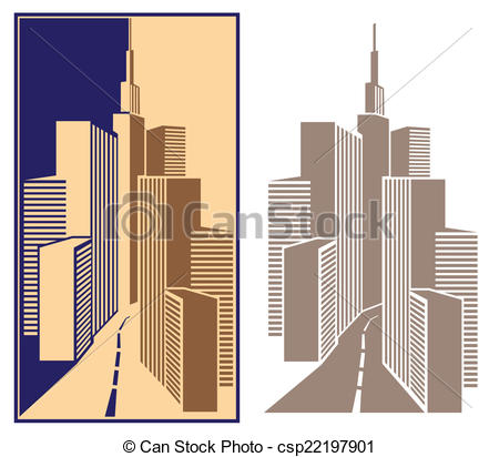 Vector Clipart of business Center.