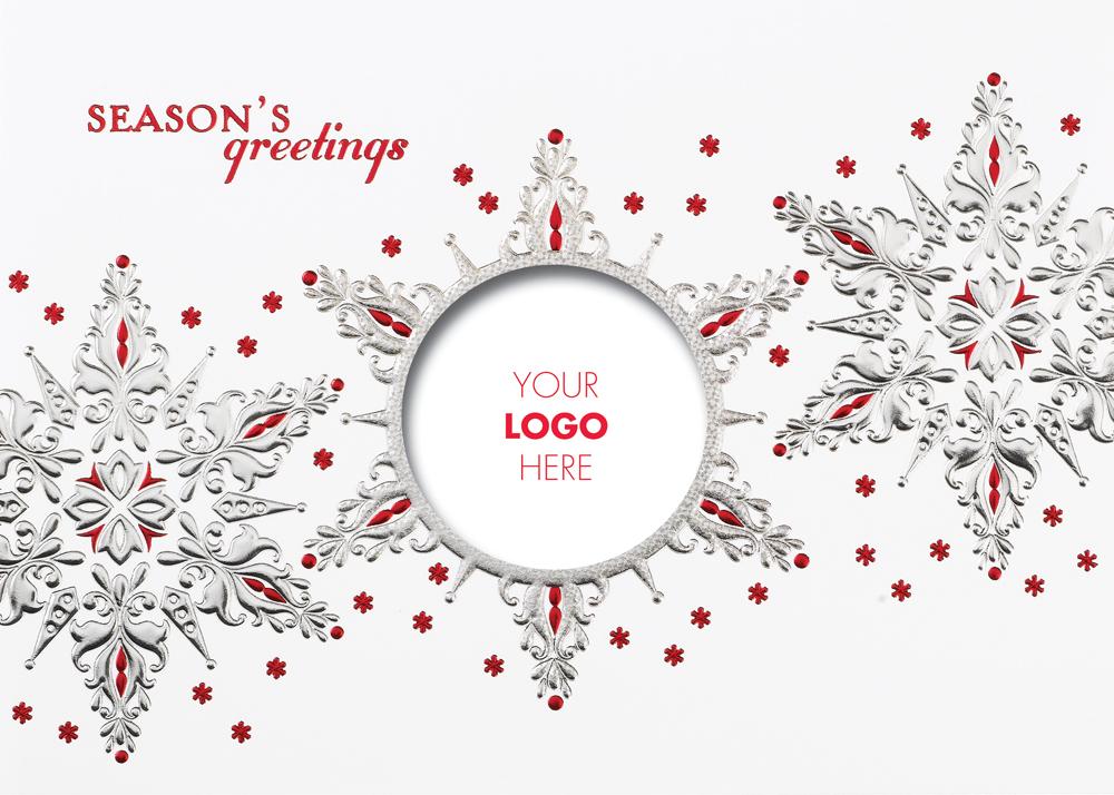 Snowflake Logo Christmas Card.