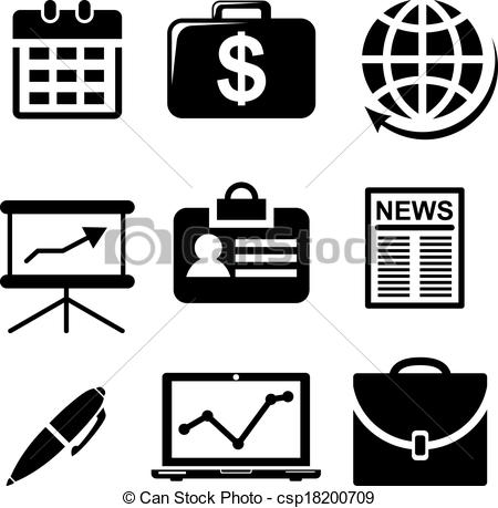 Business Clipart Black And White.