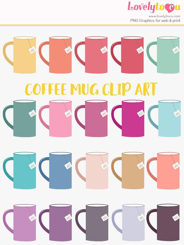 Rainbow clipart collection from Lovelytocu. Tea mug clip art.